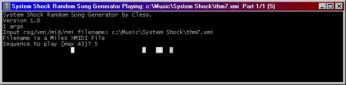 SSPLAYER: The System Shock Random Song Generator